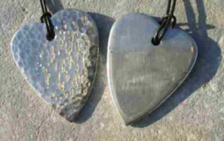 Peened Heart Pendant